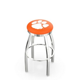 L8C2C - Chrome Clemson Swivel Bar Stool with Accent Ring by Holland Bar Stool Company