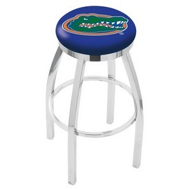 L8C2C - Chrome Florida Swivel Bar Stool with Accent Ring by Holland Bar Stool Company