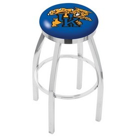 L8C2C - Chrome Kentucky Wildcat Swivel Bar Stool with Accent Ring by Holland Bar Stool Company