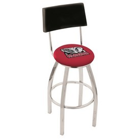 L8C4 - Chrome Alabama Swivel Bar Stool with a Back by Holland Bar Stool Company