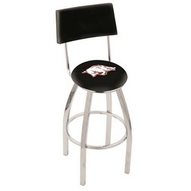 L8C4 - Chrome Arkansas Swivel Bar Stool with a Back by Holland Bar Stool Company