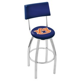L8C4 - Chrome Auburn Swivel Bar Stool with a Back by Holland Bar Stool Company