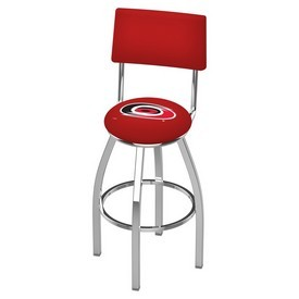 L8C4 - Chrome Carolina Hurricanes Swivel Bar Stool with a Back by Holland Bar Stool Company