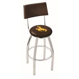 L8C4 - Chrome Wyoming Swivel Bar Stool with a Back by Holland Bar Stool Company
