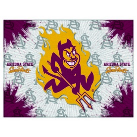 Arizona State Logo Canvas with Sparky logo by Holland Bar Stool Company