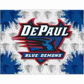 DePaul Logo Canvas by Holland Bar Stool Company