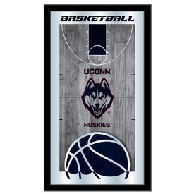 "Connecticut 15"" x 26"" Basketball Mirror by Holland Bar Stool Company"