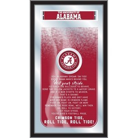 "Alabama 26"" x 15"" Fight Song Mirror by Holland Bar Stool Company"