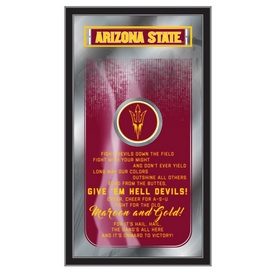 """Arizona State 26"""" x 15"""" Fight Song Mirror by Holland Bar Stool Company"""
