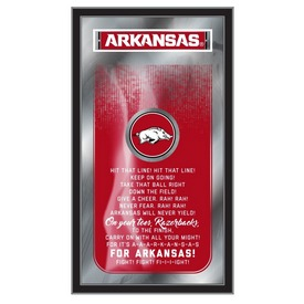 "Arkansas 26"" x 15"" Fight Song Mirror by Holland Bar Stool Company"
