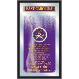 "East Carolina 26"" x 15"" Fight Song Mirror by Holland Bar Stool Company"