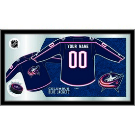 "Columbus Blue Jackets 15"" X 26"" Jersey Mirror By Holland Bar Stool Company"