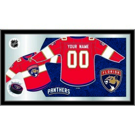 """Florida Panthers 15"""" X 26"""" Jersey Mirror By Holland Bar Stool Company"""