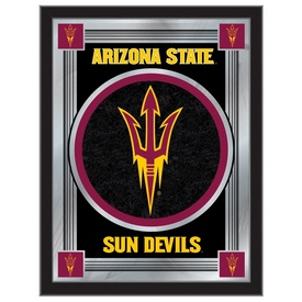 "Arizona State 17"" x 22"" Logo Mirror with Pitchfork logo by Holland Bar Stool Company"