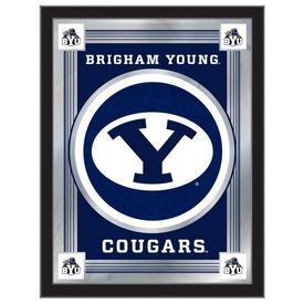 "Brigham Young 17"" x 22"" Logo Mirror by Holland Bar Stool Company"