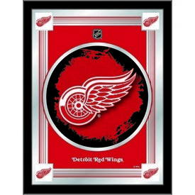 """Detroit Red Wings 17"""" x 22"""" Logo Mirror by Holland Bar Stool Company"""