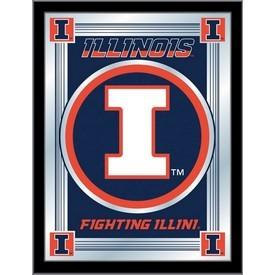 """Illinois 17"""" x 22"""" Logo Mirror by Holland Bar Stool Company"""