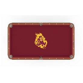 Arizona State Pool Table Cloth with Sparky Logo by Holland Bar Stool Co.