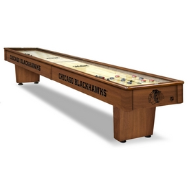 Chicago Blackhawks 12' Shuffleboard Table By Holland Bar Stool Co.