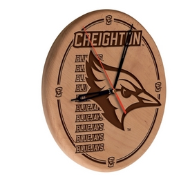 Creighton Laser Engraved Wood Clock by the Holland Bar Stool Co.