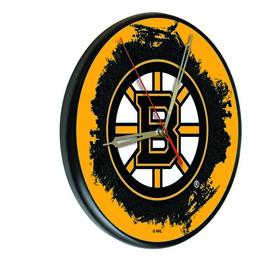 Boston Bruins Digitally Printed Wood Clock by the Holland Bar Stool Co.