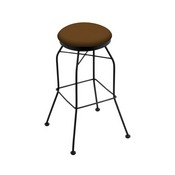 3020 Swivel Stool with Black Wrinkle Finish and Canter Thatch Seat