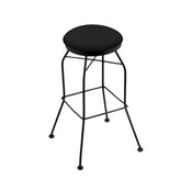 3020 Swivel Stool with Black Wrinkle Finish and Canter Espresso Seat