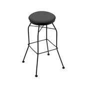 3020 Swivel Stool with Black Wrinkle Finish and Canter Storm Seat