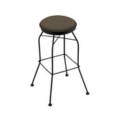 3020 Swivel Stool with Black Wrinkle Finish and Canter Earth Seat