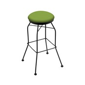 3020 Swivel Stool with Black Wrinkle Finish and Canter Kiwi Green Seat