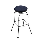 3020 Swivel Stool with Black Wrinkle Finish and Graph Anchor Seat