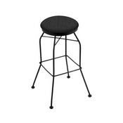 3020 Swivel Stool with Black Wrinkle Finish and Graph Coal Seat