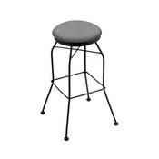3020 Swivel Stool with Black Wrinkle Finish and Graph Alpine Seat