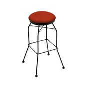 3020 Swivel Stool with Black Wrinkle Finish and Graph Poppy Seat