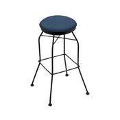 3020 Swivel Stool with Black Wrinkle Finish and Rein Bay Seat