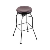 3020 Swivel Stool with Black Wrinkle Finish and Dark Cherry Maple Seat