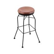 3020 Swivel Stool with Black Wrinkle Finish and Medium Oak Seat