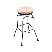3020 Swivel Stool with Black Wrinkle Finish and Natural Maple Seat