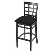 3130 Stool with Black Finish and Canter Espresso Seat