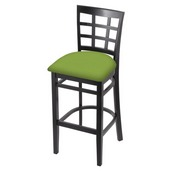 3130 Stool with Black Finish and Canter Kiwi Green Seat