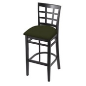 3130 Stool with Black Finish and Canter Pine Seat