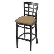 3130 Stool with Black Finish and Canter Sand Seat
