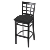 3130 Stool with Black Finish and Graph Coal Seat