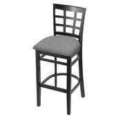 3130 Stool with Black Finish and Graph Alpine Seat
