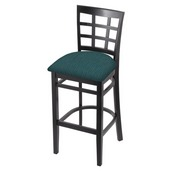 3130 Stool with Black Finish and Graph Tidal Seat