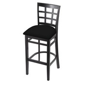 3130 Stool with Black Finish and Black Vinyl Seat