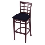 3130 Stool with Dark Cherry Finish and Canter Twilight Seat