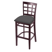 3130 Stool with Dark Cherry Finish and Canter Storm Seat