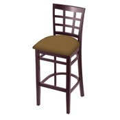 3130 Stool with Dark Cherry Finish and Canter Saddle Seat