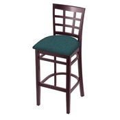 3130 Stool with Dark Cherry Finish and Graph Tidal Seat